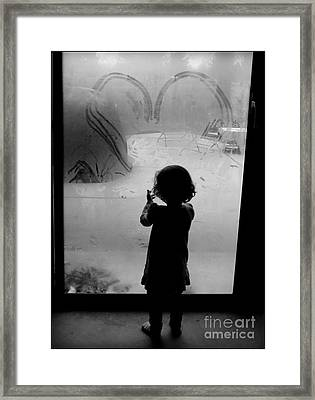 Warm Heart - Cold Fingers Framed Print by Diane M Dittus