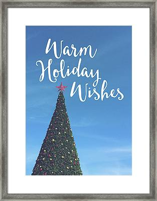 Warm Holiday Wishes- Art By Linda Woods Framed Print