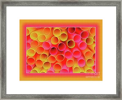Framed Print featuring the photograph Warm In Neon By Kaye Menner by Kaye Menner