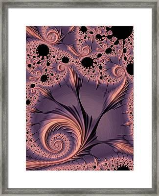 Warm Indigo Framed Print