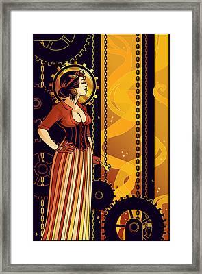 Warm Machinery Framed Print by Dani Kaulakis