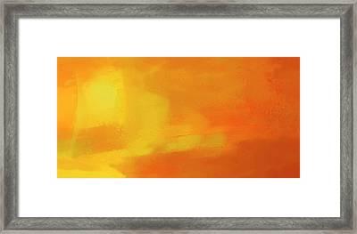Framed Print featuring the digital art Warm Moment by John Hansen