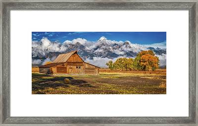 Warm Morning Light In The Tetons Framed Print