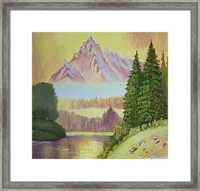 Warm Mountain Framed Print