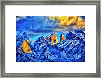 Warm Mpuntain Tops Framed Print