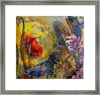 Warm  Of  The Heart Framed Print by Una Lune