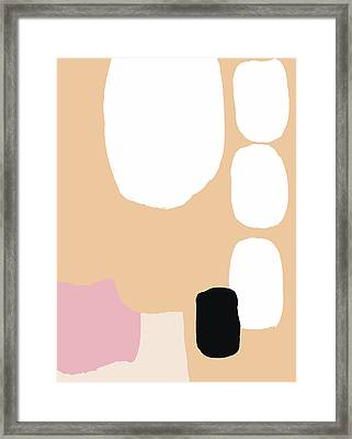 Warm Pastel Abstract Framed Print