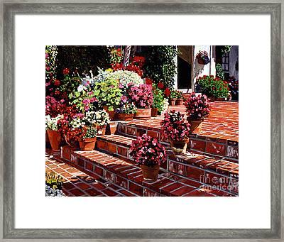 Warm Patio Framed Print by David Lloyd Glover