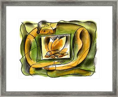 Warm Personality Framed Print by Leon Zernitsky