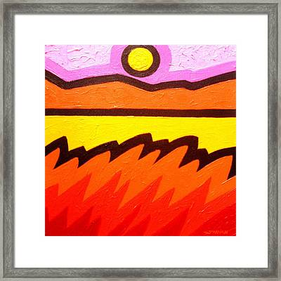 Warm Scape Framed Print by John  Nolan