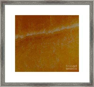 Warm Skies Framed Print by Rebecca Lemke