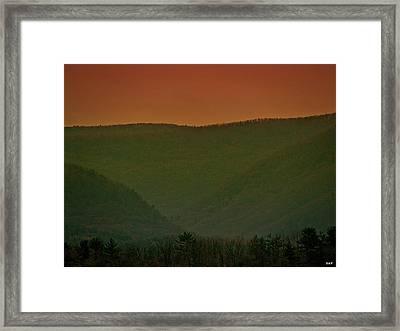 Warm Spring Mountains Framed Print by Debra     Vatalaro