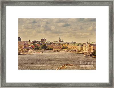 Warm Stockholm View Framed Print