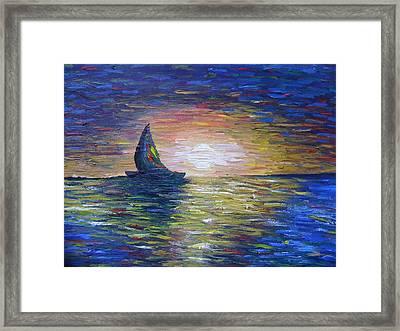 Warm Summer Night Framed Print by Aida Behani