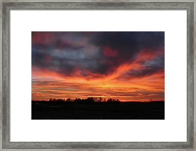 Warm Sunset Glow Framed Print by Brook Burling