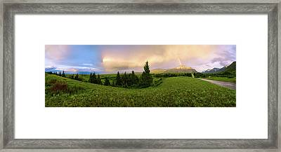 Warm The Soul Panorama Framed Print