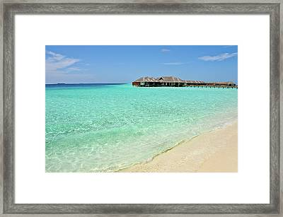 Warm Welcoming. Maldives Framed Print