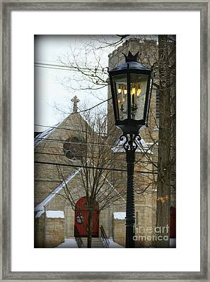 Warm Winter's Light Framed Print by Debra Straub
