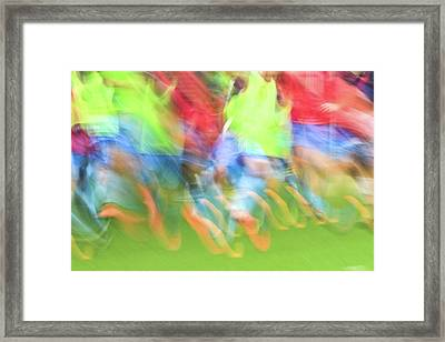 Warming Up # 2 Framed Print by Tom and Pat Cory