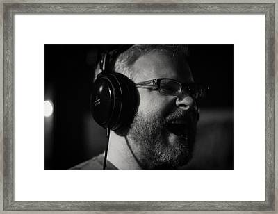 Warming Up The Vocal Chords Framed Print