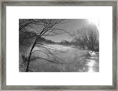 Warmth Vs. Cold Framed Print by Peggy Day