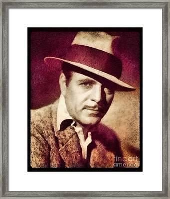Warner Baxter, Vintage Actor By John Springfield Framed Print