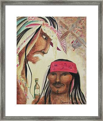 Warning Of Fire Water Framed Print by Suzanne  Marie Leclair