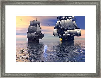Warning Shot Framed Print by Claude McCoy