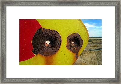 Warning Shot Framed Print by Skip Hunt