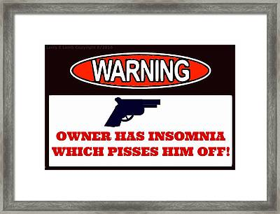Warning Sign Framed Print by Larry Lamb