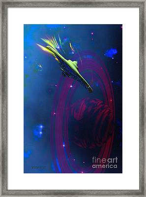 Warp Pulse Framed Print by Corey Ford