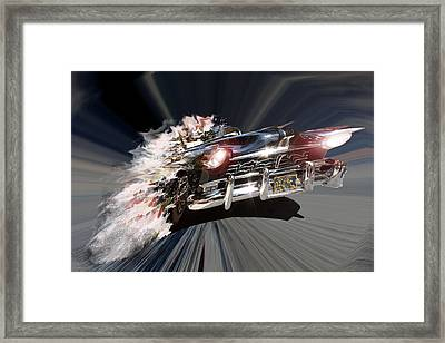 Framed Print featuring the photograph Warp Speed by Christopher Woods