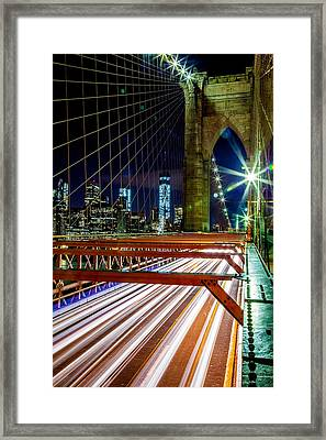 Warp Speed Out Of Manhattan Framed Print