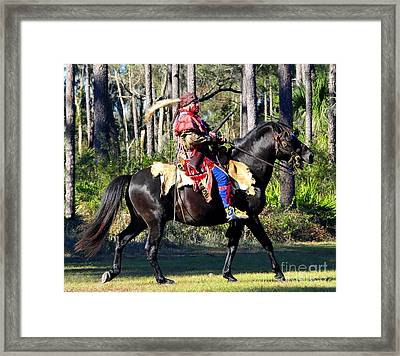 Warpath Framed Print by David Lee Thompson
