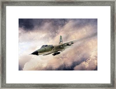 Warpath F-105 Framed Print by Peter Chilelli
