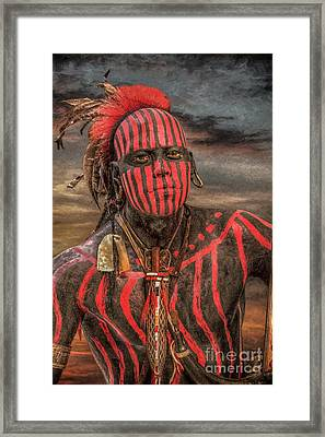Warpath Shawnee Indian Framed Print
