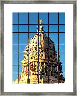 Warped Capitol Framed Print by Todd Klassy