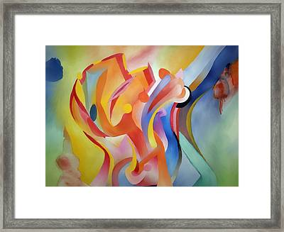 Warping Reality Framed Print by Peter Shor