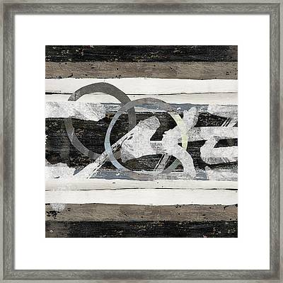 Warrenton Woodwork Squared Framed Print by Carol Leigh