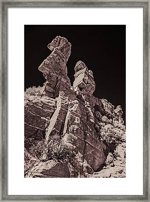 94005 Warrior On Horse Framed Print