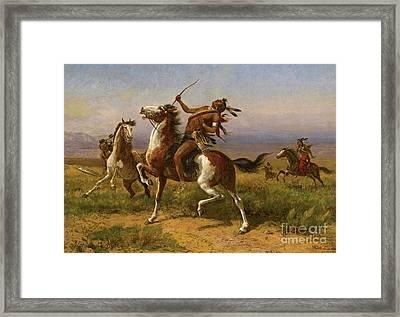Warring Tribes Framed Print