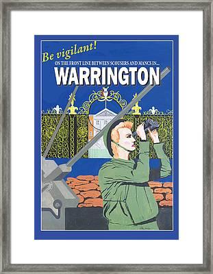 Warrington Poster Framed Print by Eric Jackson