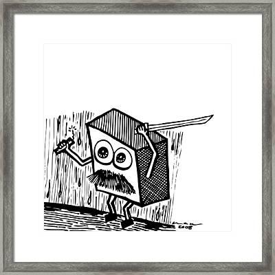 Warrior Box Framed Print by Karl Addison