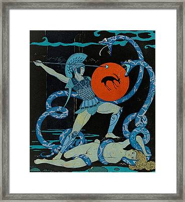 Warrior Framed Print by Georges Barbier