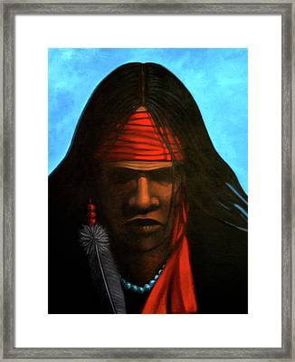 Warrior Framed Print by Lance Headlee