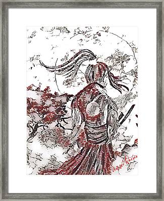 Warrior Moon Anime Framed Print