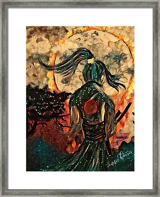 Warrior Moon Framed Print
