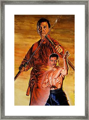Warrior Of The Past.   Framed Print