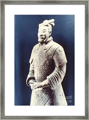 Framed Print featuring the photograph Warrior Of The Terracotta Army by Heiko Koehrer-Wagner