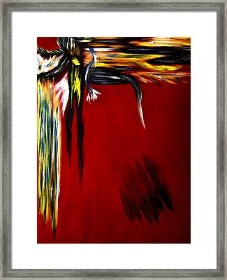 Warrior Painting Framed Print by Renee Anderson